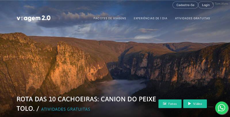 Rota das 10 Cachoeiras Parauninha Cânion do Peixe Tolo Prainha Conceição do Mato Dentro