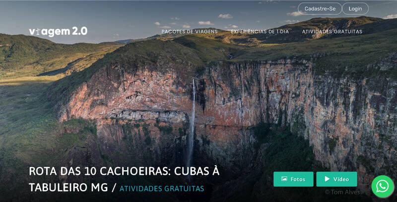 Rota das 10 Cachoeiras Três Barras, Cubas e Tabuleiro Conceição do Mato Dentro / MG